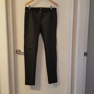 H & M Faux Leather legging Pant, Black, Size 12